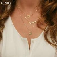 Long Chain With Music Style Big Pendant