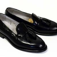 Luxurious leather shoe intact new