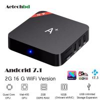 Original A-Plus 2G+16G Quad Core Android 7.1.2 TV Box Amlogic s905x 4k x 2k full hd 5g wifi smart media player with BT4.0