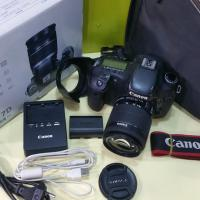 Canon 7D body with 18-55mm lens .