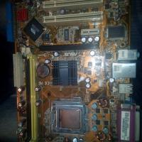 asus motherboard DDR2 &  intel Dual Core Prossesor For Sale