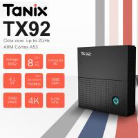 Tanix TX92 Amlogic S912 DDR4 3G 32G Octa Core Tv box iptv dual wifi chromecast satellite receiver free movies smart tv streaming boxes