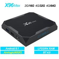 X96 Max 4GB 32GB Android 8.1 TV BOX Amlogic S905X2 Quad Core WIFI 2.4G/5G and Bluetooth 4.0 HD and VP9 4K Media Player